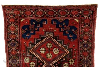 Afshar, antique - doj goli a Parizi- two flowers from Parizi. 