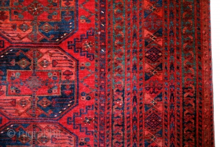 Bouchara, Bokhara, Bochara, Antique Ersari Turken Carpet. 