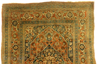 Fine antique 1880 Hadji Jalili Bidjar, nicely worn, even wear, brushed not washed, 175 x 128 Cm.
