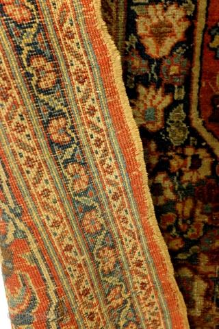 Fine antique 1880 Hadji Jalili Bidjar, nicely worn, even wear, brushed not washed, 175 x 128 Cm.