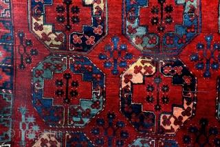 Ersari, Turkmenistan Uzbekistan, 315 x 225 Cm. 10.5 feet x 7.5 feet.  Shabbi-Chique 1900 - 1915.