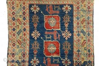 Armenian Karaghasli, 98 x 195 Cm.  1890 - 1910. Strong abrash in the border.