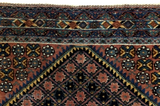Afshar, dazzling color pallette, 132 x 165 Cm. 4.4 feet x 5.5 feet.  200.000 knots per sq metre.  Full even 'meaty'pile, good condition, clean, no holes, thin spots or tears.  Mid 20th  ...