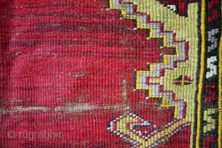 "Prayer rug, Karapinar, late 19th century.  150 x 93 Cm's. 5 ft x 3ft 1"".  Wool on wool."