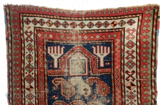 1890 Kazak Shirvan area, Prayer rug. 85 x 115 Cm. 