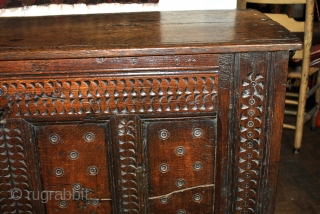 'Bahut', French for this kind of chest, 17th century. 