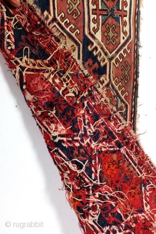 Shasavan Mafrash panel, 107 x 37 Cm. Soumack.
