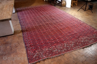 """Yomouth Soumack, kilim, late 19th., early 20th  century. Natural colors.  420 x 225 Cm's. 14 feet x 7 ft. 6""""."""