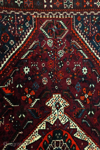 Qashqai, Kashkouli, 222 x 150 Cm. 7.4 feet x 5 feet. 40-ies. 