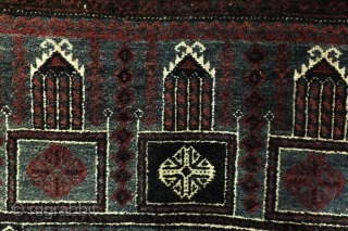 Belouch, 60-ies or 70-ies, 160 x 90 Cm. wool on wool, warp white wool. 