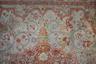 Fine Silk Hadji Jalili Tabriz, 155 x 144 Cm.  Knotted on cotton.