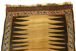 Large Sofreh, kilim with soumack embroidery, 210 x 82 Cm. 