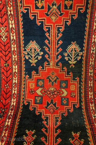 Avar, Dagestan, north Caucasus, characteristic - just red and blue. 