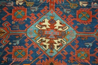 Large oversized Soumack. 500 x 320 Cm. 16.6 ft. x 10.6 ft.  Konaghend Caucasus. Dated and signed top right corner; 1321 = 1903. In very good condition. I send large photo's on  ...
