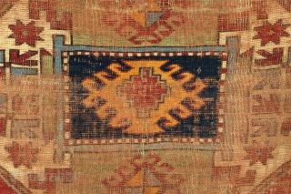 Kazak, Lori Pampak, Armenian, 1880's, beautifully aged and worn, 223 x 167 Cm.  Time adds a fine details.