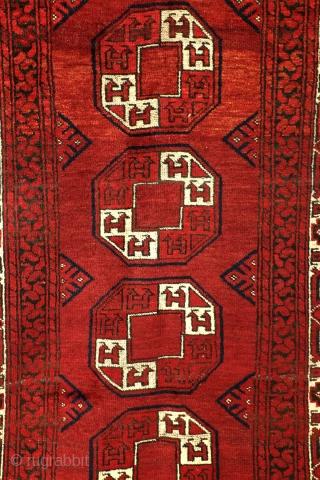 Ersari Beshir, 1910 - 1920. Full pile, clean in great condition.  220 x 105 Cm. 7.3 ft. x 3.5 ft.