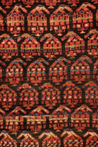 Georgian rug, west Caucasus, antique,  107 x 360 Cm. 3.5 x 12 feet. natural colors.  wear in the top border.. Price very reasonable.