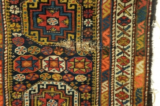 Antique rug Ganja, or Moghan, Shirvan area Caucasus. 