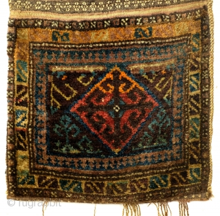 Complete bag, Shantah, Afghan Baluch nomad In perfect condition. Early to Middle 20th century, some synthetic colors. 
