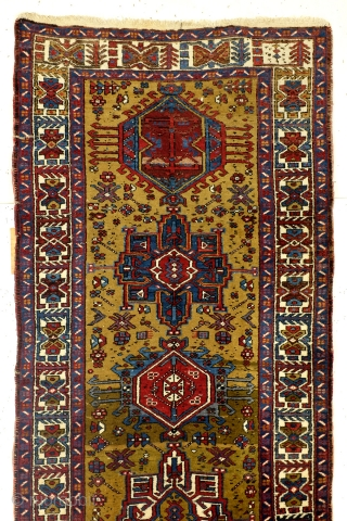 Heriz Karadja, camel ground, full pile, no wear, great condition, wool on cotton, 