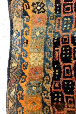 Very unusual  crazy Hamadan, tribal? in fair condition. 