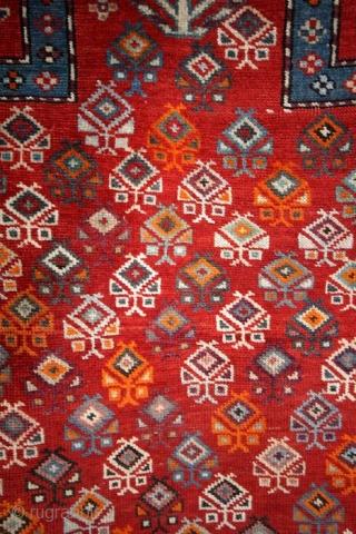 Prayer rug, Caucasus, Shirvan.  108 x 147 Cms.  ON AUCTION AT CATAWIKI; https://veiling.catawiki.nl/kavels/28833593-kazak-shirvan-gebied-bidkleed-150-cm-110-cm?previous=favorites  SOLD ON CATAWIKI AUCTION