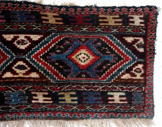 50 x 107 Cm.  knotted Mafrash panel, Shahsevan. Coucasus, Karabach area, ARMENIA! Natural colors, great condition, beautiful wool.