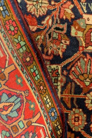 Koerd Bidjar, 335 x 225 Cm. 1/2 inch thick.  In very good condition.  Beautiful pistache.