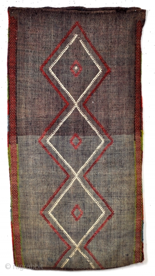 Camel bag, Verneh, probably  environment of Bergama - West Anatolia.  Old and simple repair on the right side.  60 x 115 Cm.
