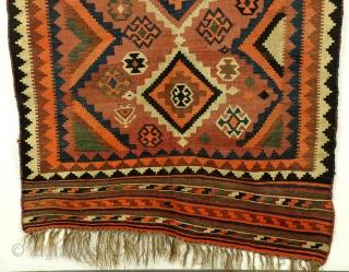 "Wedding kilim, Luri Qashqai, 137 x 280 Cm. 54"" x 112"".  Not washed, in good condition, firm.  Antique."