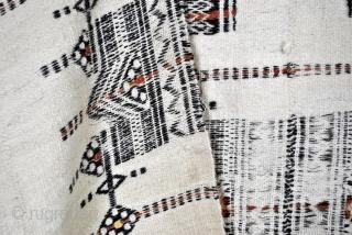 Fulani - Hausa blanket, wool, flatweave, 230 x 130 Cm.  Burkina Faso or Mali. Largest nomad people in the world.