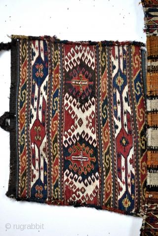 Antique Shasavan Mafrash, two side panels come close to the rest.  I offer it now for sale, but if not sold quickly, I'll make myself  a hocker with it.