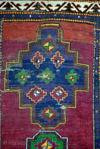 Kazak, 19th century, Lori Pampak, Armenia, Kaukasus.  320 x 170 Cm.  Natural colors. Rare purple and great green.  I sent you photo's on request.