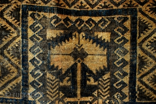 Old Beloudj prayer rug.  19th century.  wool on wool.  90 x 135 Cm. SOLD