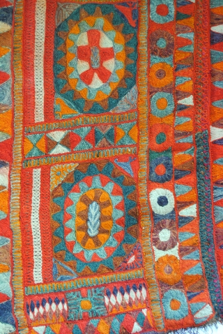 Stunning rug made by Iraki marsh Arabs. 1950. 