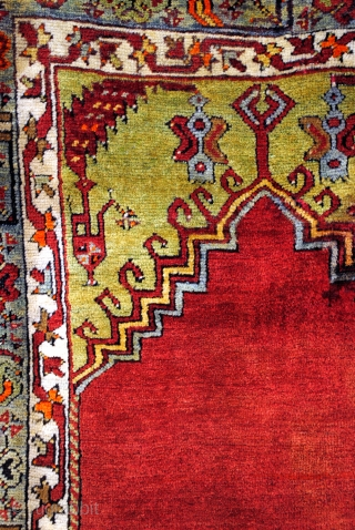 Amazing Ladik, Anatolia.  227 x 117 Cm.   7.5 feet x 4 feet.      I do love ragged old worn pieces but this one is something else.  Never been used in  ...