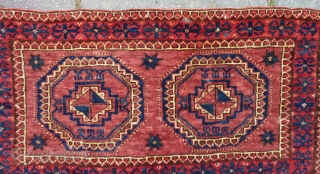 "Ersari(?), Turkmen torba, 43  x 82 cm., 17"" x 32"". Good pile and all natural dyes.
