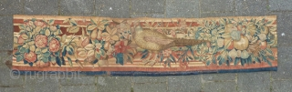 Tapestry panel with a pheasant, 17th c., 226 x 49 cm.