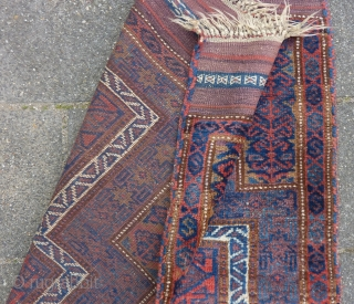 Baluch prayer rug, 138  x 92 cm., good pile, all natural dyes, no repairs.