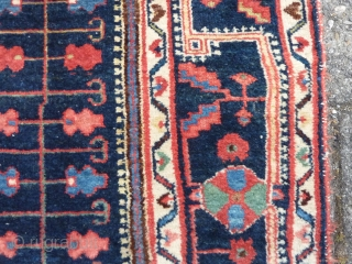 Finely knotted Malayer rug, 212  x 152 cm., 7' x 5', ca. 1900. Thin and floppy handle, with all well saturated natural dyes. Good pile in general, endings secured. A very  ...