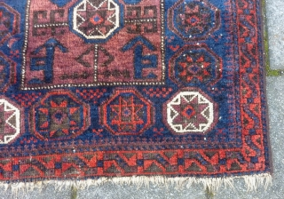 "Baluch bagface, 77  x 84 cm., 30"" x 33"". All natural dyes and with some side damage ( see last pict. )"