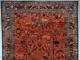 """#7516 European Hand Hooked Rug  This first-quarter 20th century or earlier European hand hooked rug measures 11'1"""" X 20' ( 338 X 609 cm). This is one of the loveliest rugs I have  ..."""