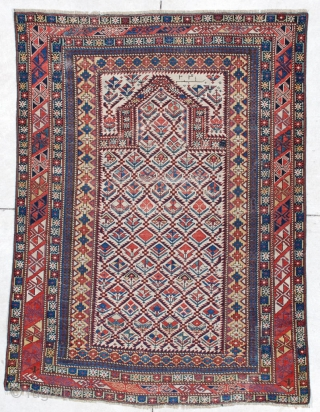 #6091 Marasali Shirvan Antique Caucasian Rug
