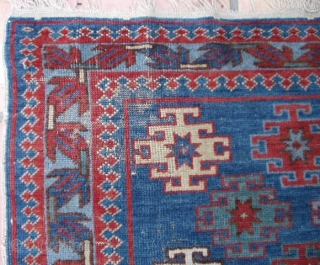 #6471 Antique Kuba Caucasian Oriental Rug