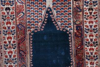 """#6952 Ghiordes antique Turkish Rug  This 18th century Ghiordes measures 4'2"""" x 5'4"""". https://www.antiqueorientalrugs.com/turkish.htm"""