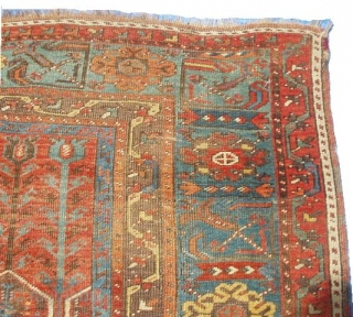 """#5988 Ladik Antique Turkish Prayer Rug This lovely Ladik measures 3'10"""" X 6'11"""". It dates from the 18th century.  It's all there… The tulips at the top, the spandrels filled with a  ..."""