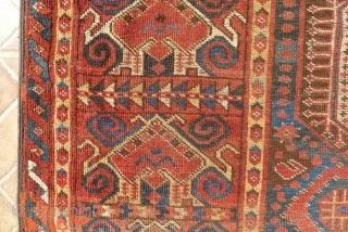 A Beshir Cloudband Main Carpet, Amu Darya region, Turkestan.  348 x 154 cm. 3rd. qtr. 19 th. century. A few areas of wear and (corner) repair.