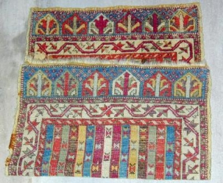 Anatolian Yastik WITH GLORIOUS COLORS AND GOOD PILE, 19th.Cent.,3\'X 1\'9\'\'.