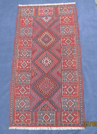 Finely woven colorful Rare Eastern Anatolian Yastik, mint condition,