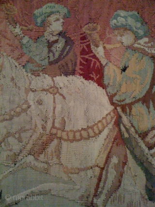 French Tapestry 100 to 200 years old in a fairly good condition, 10ft. x 6ft.